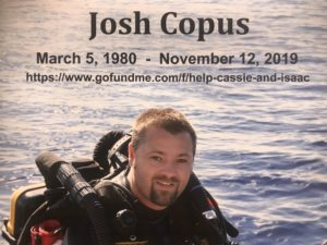 Go Fund Me for Grad Student Josh Copus