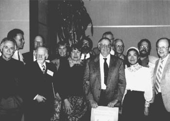 Photo of past WSN presidents with former long-time Secretary D.H. Montgomery and his wife Gerry Montgomery.