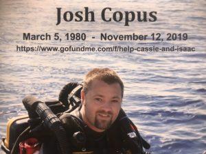 Go Fund Me for Grad Student Josh Copus